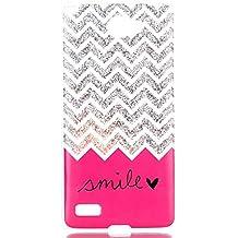 Funda LG Bello 2 Silicona,TPU Suave Funda Case Bumper Cascara para LG L Bello 2 Smartphone Funda de Silicona de Gel[Not for LG Bello D331 D335]-Onda de sonrisa