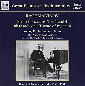 Concertos pour piano Nos 1 & 4 ( coll. Great Pianists )