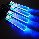 4in1 12V Car Decorative Lights Atmosphere Charge LED Interior Floor Lamp Blue