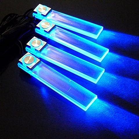 4en1 12V lampe de décoration de voiture LED intérieur lampadaire Blue