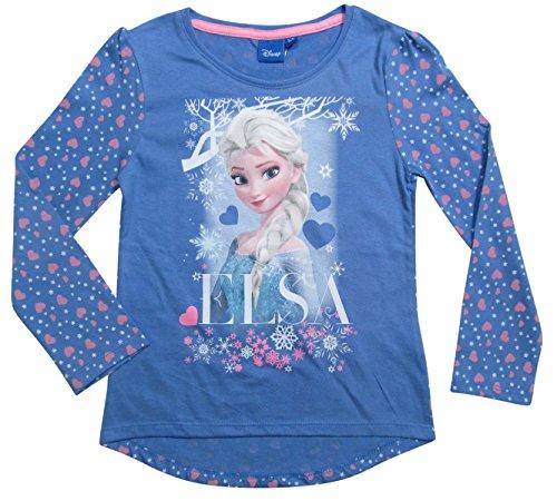 Frozen Langarmshirt Ökotex Standard 100 Die Eiskönigin 2017 Kollektion 98 104 110 116 122 128 Mädchen Lang Elsa Fliederblau (Fliederblau, 110 - (Mädchen Kitty Hello Kleid)