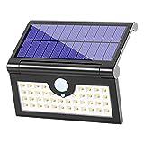 Solarleuchte Garten 42 LED, MATONE 250°Faltbare Solarlampen für Außen, Solar Betriebene Sicherheitswandleuchte, Wasserdichte Wegeleuchte mit Bewegungsmelder für Hof Balkon Terrasse Gehweg (Schwarz)