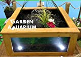 Raised Square Garden Fish Pond with Viewing Window (700 Litres) ...