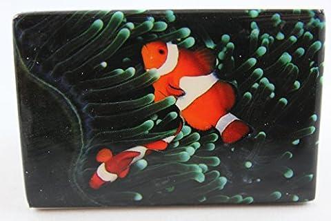 Clown En Porcelaine - Corn elißen–1023853–Aimant, poisson clown, Porcelaine, 7,5cm x