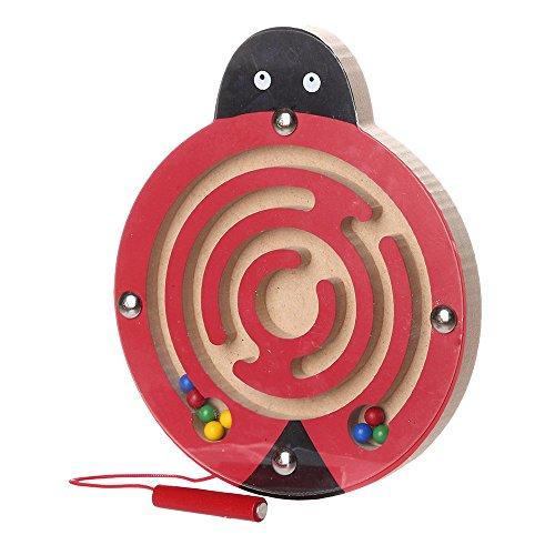 Fcostume Kinder Magnet Labyrinth Spielwaren Intellektuelles Puzzle-Board Lernspielzeug (C) (Magnet-labyrinth Puzzle)