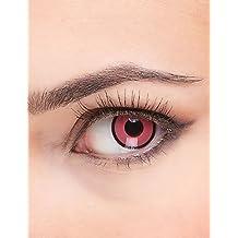 Lentillas de contacto fantasía rosa y negro adulto