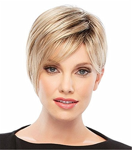 Pixie Cut synthetische Perücke Super Short-Haar-Perücke für Damen Mixed Blonde 0101 (Pixie Cut Perücken)