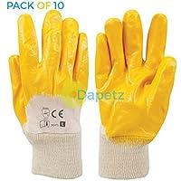 Daptez® 10x apertura posteriore in metallo e guanti in nitrile per lavori pesanti, gestione