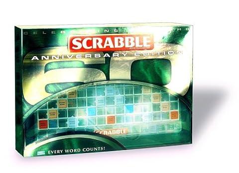 Mattel M7323-0 - Scrabble Jubiläumsausgabe (Monopoly Kompakt)