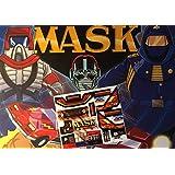 Máscara Vintage Repro troquelado pegatinas/calcomanías/etiquetas para Kenner M.A.S.K Bulldog arrasar/pegatinas