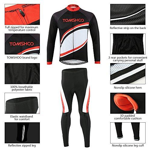 Zoom IMG-2 tomshoo completo ciclismo abbigliamento set