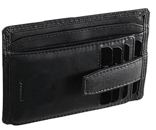 Pranke ECHT Leder Geldbörse / Geldbeutel Herren Portemonnaie Klein Tasche Geldtasche Querformat Vintage Braun Schwarz/Black