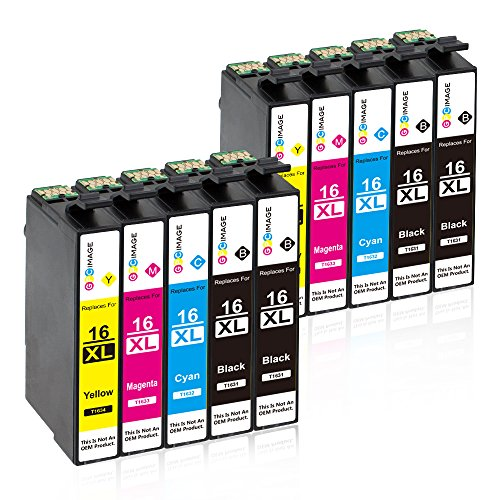 GPC Image 16XL Druckerpatronen Ersatz für Epson 16 XL Kompatibel für Epson Workforce WF-2630...