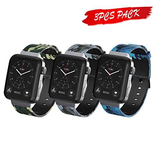 Senmore Cinturino Compatible per Xiaomi Mi Smart Watch Cinturino in Silicone Braccialetto di Ricambio per Xiaomi Mi Smart Watch Braccialetto (3 PCS-D)