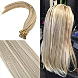 YoungSee 40 cm Bonding Extensions Echthaar Gestrahnt Goldene Blond Gute Qualitat U Tip Bondings Echthaar Remy Human Hair Extensions 50g