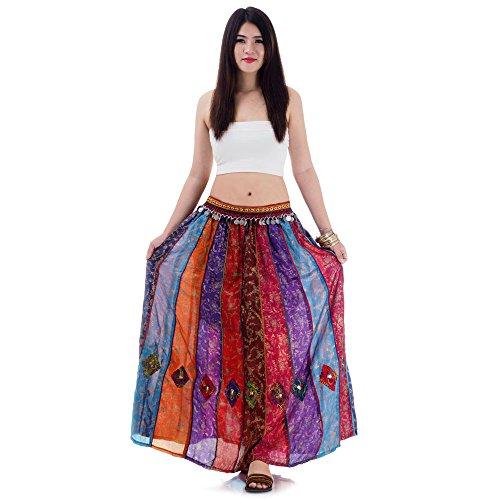 Patchwork Gypsy Zigeuner Rock (Zigeuner Kostüm Muster)