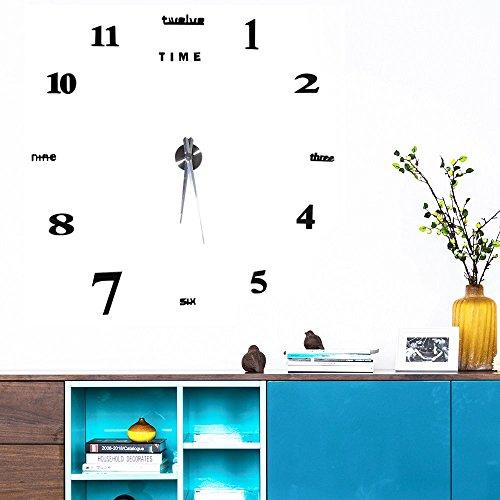 Moderno Orologio Da Parete Fai Da Te Yosoo, Tridimensionale 3D Sticker Decorazione Per Casa Ufficio Hotel Ristorante, Migliore Scelta Come Regalo – Nero - 6