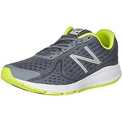 New Balance Hombre Vazee Rush v2 Running Shoe, Grey/Yellow