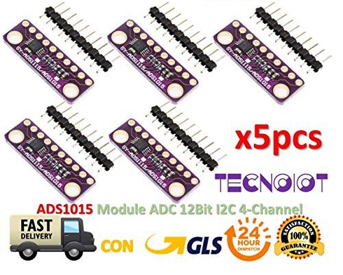 5pcs I2C ADS1015 12-bit Precision ADC 4 Channel Converter Module  Development Board Module with Programmable Gain Amplifier | 5 stücke AD10  AD10 Modul