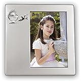 Zep rosa Sash Comunión marco de fotos, color plateado