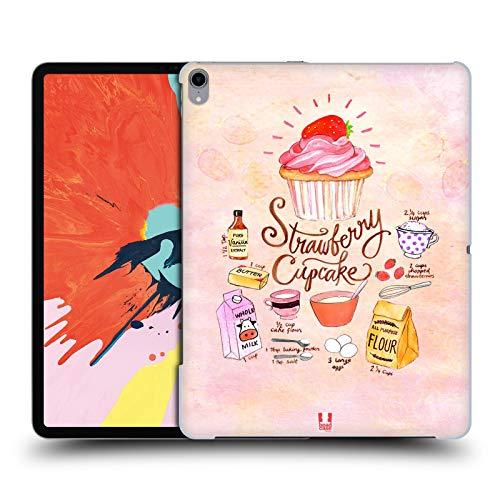 head case designs cupcake fragola ricette illustrate cover dura per parte posteriore compatibile con ipad pro 12.9 (2018)