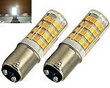 Bonlux 2-Packs 220V 4W Ba15d LED-Glühlampe kühles Weiß 6000K 35W Halogen-Equivalent SBC Kleine Bajonett LED-Birnen für Nähmaschine / Appliance-Lampen