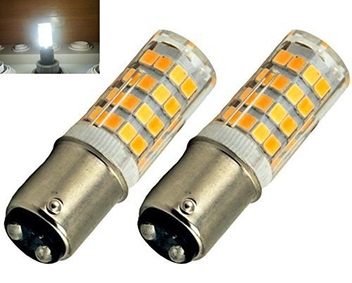 Bonlux 2-Packs 220V 4W Ba15d LED-Glühlampe kühles Weiß 6000K 35W Halogen-Equivalent SBC Kleine Bajonett LED-Birnen für Nähmaschine / Appliance-Lampen (Lampe Appliance Glühlampe)