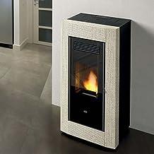 Estufa de pellets Eva calor Borrar 13 kW, Limestone Rigato