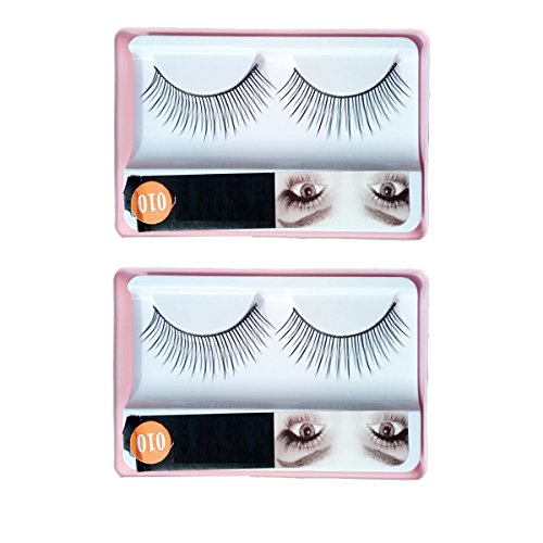 HUDA BEAUTY Imported 2 Pair Black Natural Thick Long False Eyelashes with Adhesive - 010