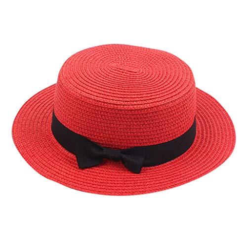 Wudube berretto da donna berretto estivo in paglia traspirante con visiera piatta superiore nera cappello da visiera per vacanza al mare