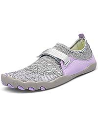 28825be71f63 Dreamshow Barfußschuhe Damen Herren Aquaschuhe Sport Outdoor Fitnessschuhe Trekking  Schuhe Ultraleicht Rutschfest ...