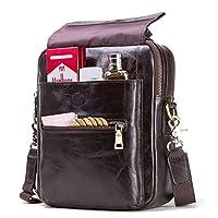 حقائب الكمبيوتر المحمول الجلدية للرجال، حقيبة رسول حقيبة جلدية حقيبة ظهر كتف مقاومة للماء حقيبة كتف للرجال والنساء
