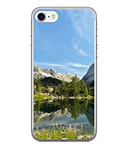 PrintVisa Designer Back Case Cover for Apple iPhone 6 (Nature Design With Mountain And Lake )