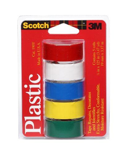 Scotch Super Dünn Wasserdicht Vinyl Kunststoff farbigen Tape.75-inch von 125-inch, Porzellanperlen