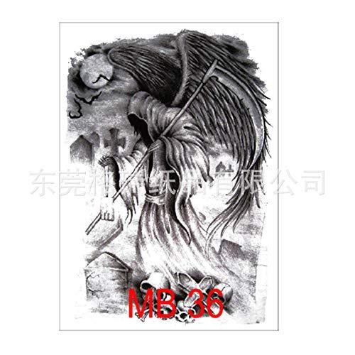 Voller Rücken Tattoo Aufkleber großes Bild voller Rücken Tattoo Qing Guan Yu Zhao Yun Karpfen Malerei Muster MB-36 340 * 480mm - Nouveau Pro-36