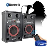 Does not apply 2 x 8 Active USB/SD Party Speakers 400W + Bluetooth Music Receiver + Cables