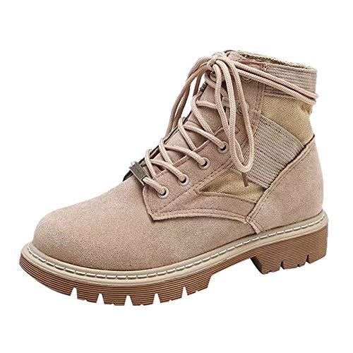 Stiefeletten Damen Schuhe Xinantime Stiefel Sneaker Damen Round Toe Wildlederschuhe Flache Booties Martin Stiefel Freizeitschuhe 35-43