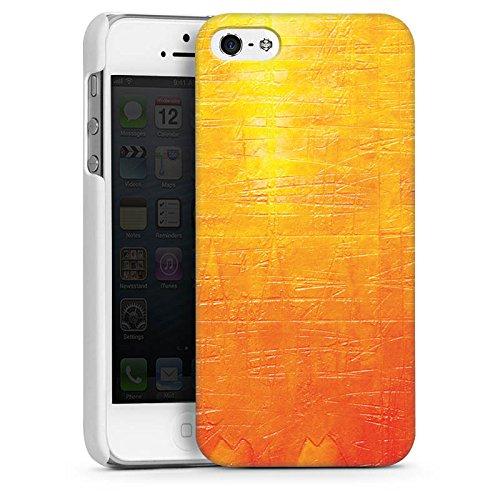 Apple iPhone 5s Housse Étui Protection Coque Egratignure Structure Peinture CasDur blanc