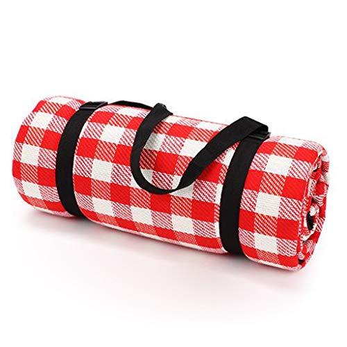 GXY Picknickmatte Verdickungsmatte Outdoor Picknickmatte Tragbare Frühling Tourmatte Super Large Park Vororte Ultraleichte Faltmatte (Color : RED, Size : 200 * 200CM)