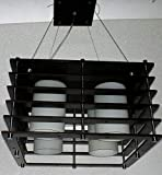 Whiteray Wooden Square Modern Designed LED Hanging Light