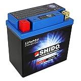 Batterie Shido Lithium LB9-B / YB9-B Quattro, 12V/9AH (Maße: 134x75x134) für Piaggio / Vespa Beverly 125 Baujahr 2003