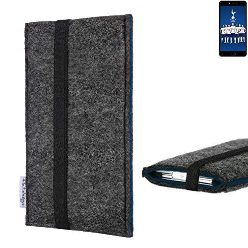 flat.design Handyhülle Lagoa für Leagoo T5C | Farbe: anthrazit/blau | Smartphone-Tasche aus Filz | Handy Schutzhülle| Handytasche Made in Germany