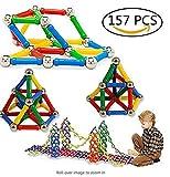 Hangaga 157 Pcs magnetischer Baustein Spielzeug Spielzeug Gehirn Training Set für Kinder und Erwachsene