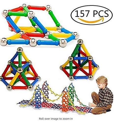 TO_GOO 157 Piezas de Bloques de construcción magnéticos Juguetes de Juguete Juego de Entrenamiento Cerebral para niños y Adultos