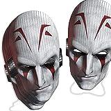 Procos 84536–Masque papier Star Wars Grand Inquisiteur, 6pièces, blanc/rouge