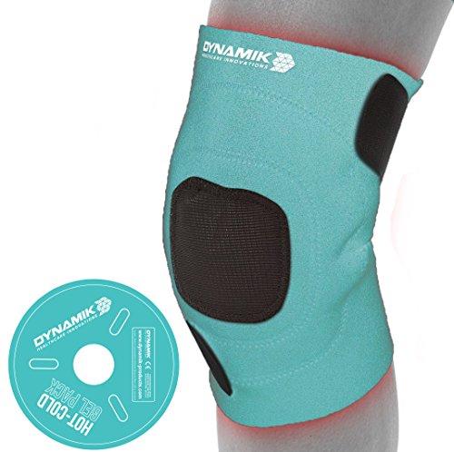 Dynamik Products - Poche chaud/froid avec bande de compression en néoprène - grande qualité/soulage les douleurs du genou