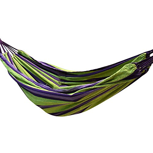 Signstek portable 2persona giardino campeggio outdoor travel hammock, green
