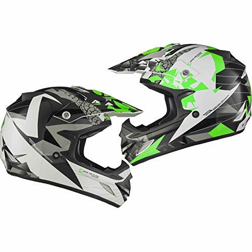 Shox MX-1 Paradox Enduro Motocross Helm XL Schwarz Grün