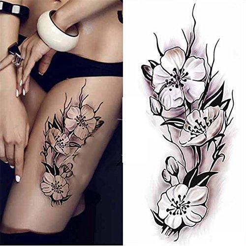 etiquetas-engomadas-desprendibles-del-tatuajes-temporales-del-patron-de-la-flor-del-ciruelo-etiqueta
