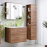 Badmöbel Set 'Marisa 80' Badezimmerschrank 4 tlg Waschbecken Waschtisch Spiegelschrank